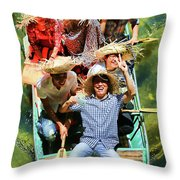 Under The Bridge Vietnamese Smiles  Throw Pillow