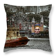 Under The Bridge Throw Pillow by Wayne Sherriff