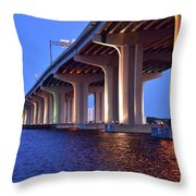 Under The Bridge With Lights 01175 Throw Pillow