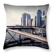 Under The Brooklyn Bridge Throw Pillow