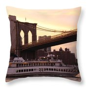 Under The Brooklyn Bridge  Throw Pillow