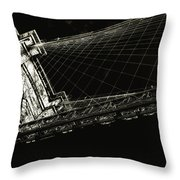 Under The Brooklyn Tower Throw Pillow