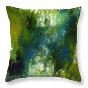 Under The Canopy- Abstract Art By Linda Woods Throw Pillow