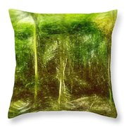 Under The Canopy Of The Antediluvian Forest Throw Pillow