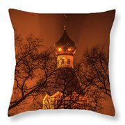 Under The Cover Of Fog Throw Pillow