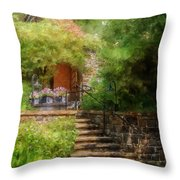 Under The Crepe Myrtle Tree Throw Pillow