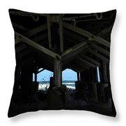 Under The Daytona Beach Pier 002 Throw Pillow