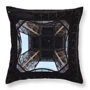 Under The Eiffel Throw Pillow