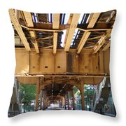 Under The El - 1 Throw Pillow