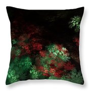 Under The Forest Canopy Throw Pillow