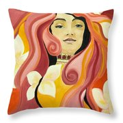 Under The Influence Of Alphonse Mucha Throw Pillow