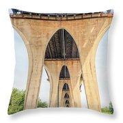 Under The Leo Frigo Bridge Green Bay  Throw Pillow