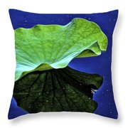 Under The Lily Pad Throw Pillow