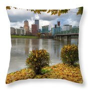 Under The Maple Tree In Portland Oregon During Fall Throw Pillow