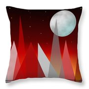 Under The Night Sky Throw Pillow