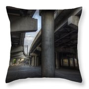 Under The Overpass I Throw Pillow by Break The Silhouette