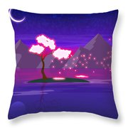 Under The Phoenix Tree Throw Pillow