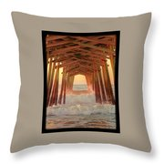 Under The Pier At Dawn Throw Pillow