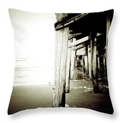 Under The Pier Extreme Throw Pillow
