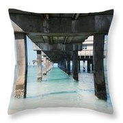 Under The Pier Throw Pillow by Lynn Jackson