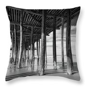 Under The Pismo Pier Throw Pillow