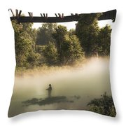 Under The Rainbow  Throw Pillow by Kim Loftis
