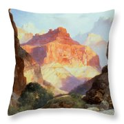 Under The Red Wall Throw Pillow