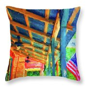 Under The Roof Throw Pillow