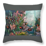 Under The Sea Colors Throw Pillow
