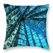 Under The Sea Dwelling Abstract Throw Pillow