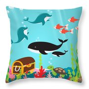 Under The Sea-jp2988 Throw Pillow