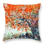 Under The Shade Of The Flamboyant Throw Pillow
