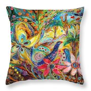 Under The Shadow Of Date Tree Throw Pillow