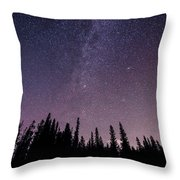 Under The Stars - Barrier Lake Throw Pillow by Adnan Bhatti