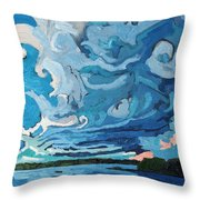 Under The Storm Throw Pillow