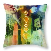 Under The Surface - Green Throw Pillow