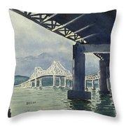 Under The Tappan Zee Bridge Throw Pillow