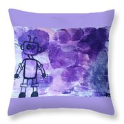Under The Thumb Throw Pillow