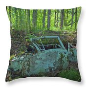 Under The Trail Throw Pillow