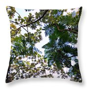 Under The Trees 2 Throw Pillow