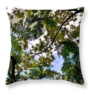 Under The Trees Throw Pillow