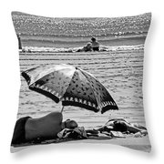 Under The Umbrella Throw Pillow