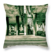 Under The Viaduct C Panoramic Urban View Throw Pillow