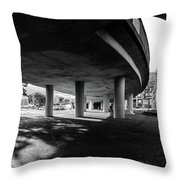 Under The Viaduct C Urban View Throw Pillow