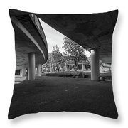 Under The Viaduct D Urban View Throw Pillow