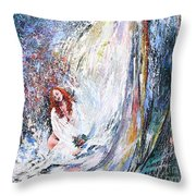 Under The Waterfall Throw Pillow