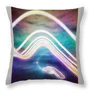 Under The Wave Throw Pillow