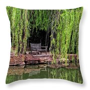 Under The Willows 7749 Throw Pillow