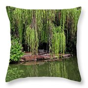 Under The Willows 7758 Throw Pillow