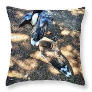 Under The Wings Throw Pillow